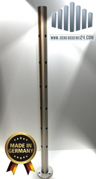 Edelstahleckpfosten mit Lochungen 90 Grad für 12mm Stäbe