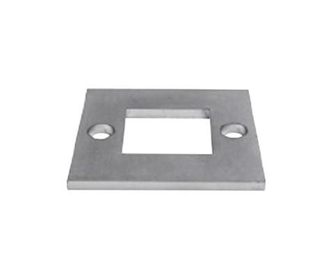 Edelstahlankerplatte für Bodenmontage 100 x 100mm für 40 x 40mm