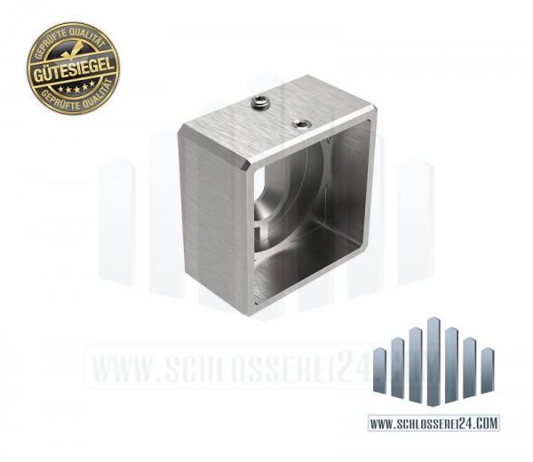 Edelstahlwandhalter für Vierkantrohr 40x40mm