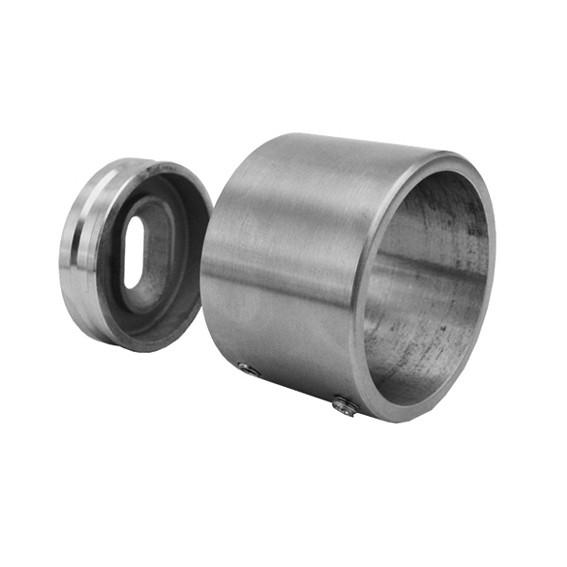 Edelstahlwandanschluss für Rundrohr 42,4mm