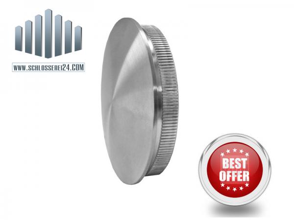 Edelstahlrohrendkappe für 42,4x2,0mm (voll)