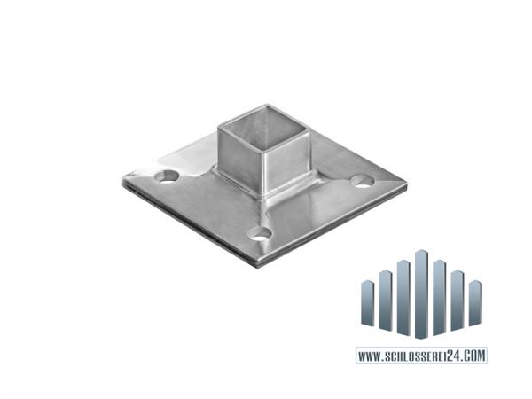 Edelstahlbodenanker aus Edelstahl, für Rohr 40x40x2,0mm