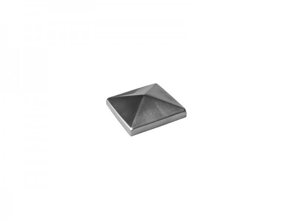 Pfostenkappe Edelstahl 60/60mm Pyramide