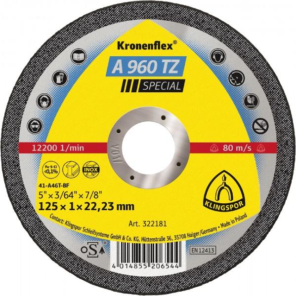 Trennscheibe A 960 TZ - 125 x 1 x 22,23mm - gerade