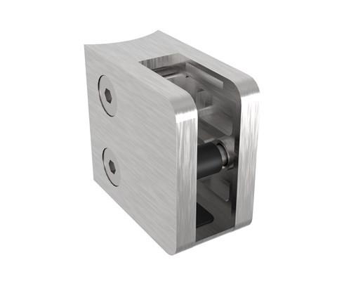 Glasklemmhalter (45x45mm) mit Platte für 42,4mm RR