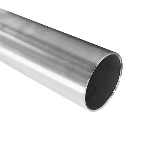 Edelstahl-Rundrohr 42,4 x 2,0mm - Korn 240 geschliffen
